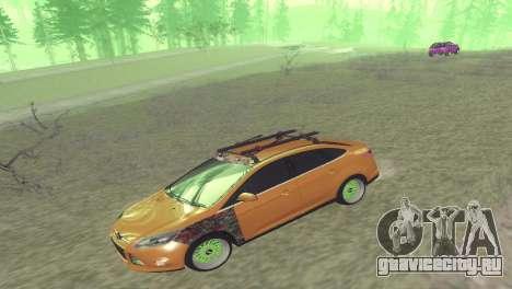 Ford Focus Sedan Hellaflush для GTA San Andreas вид сзади слева