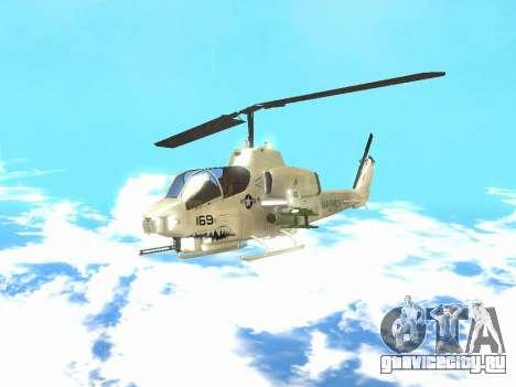 AH-1W Супер Кобра для GTA San Andreas вид слева
