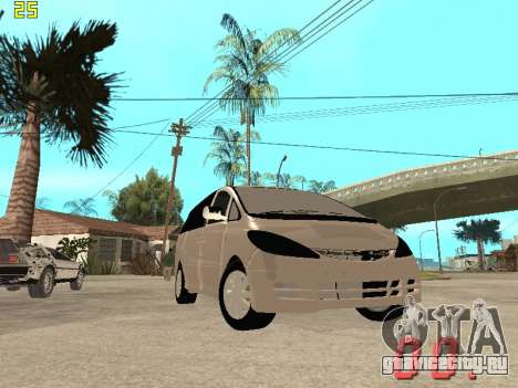 Toyota Estima KZ Edition 4wd для GTA San Andreas вид сбоку