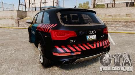 Audi Q7 Hungarian Police [ELS] для GTA 4 вид сзади слева