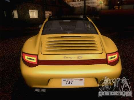 Porsche 911 Targa 4S для GTA San Andreas вид сверху