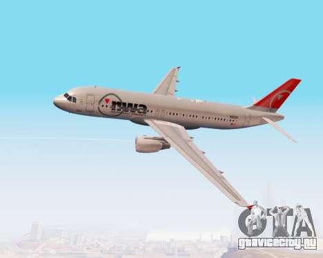 Airbus A320 NWA для GTA San Andreas вид сбоку