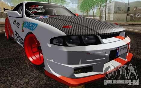 Nissan Skyline GT-R32 для GTA San Andreas вид сбоку