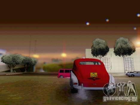 ГАЗ М-20 Победа для GTA San Andreas вид сбоку