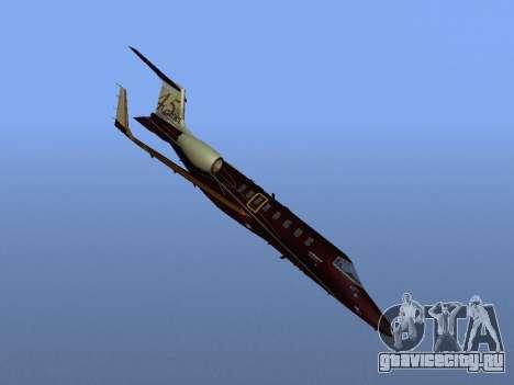 Bombardier Learjet 45 для GTA San Andreas вид сбоку