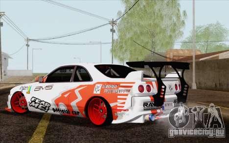 Nissan Skyline GT-R32 для GTA San Andreas вид слева