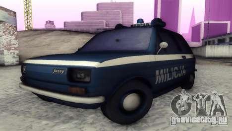 Fiat 126p milicja для GTA San Andreas вид слева