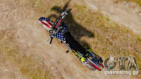 Kawasaki KX250F Monster KX USA для GTA 4 вид сзади слева