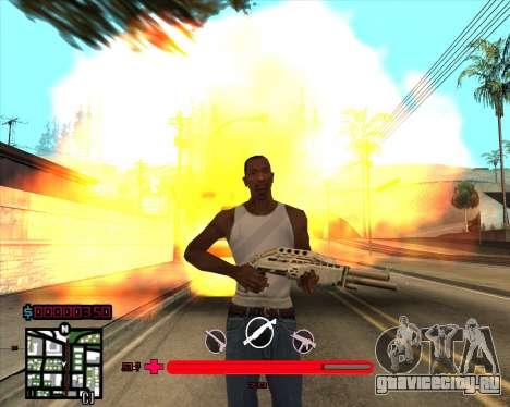 C-HUD by Mario_Nostra для GTA San Andreas третий скриншот
