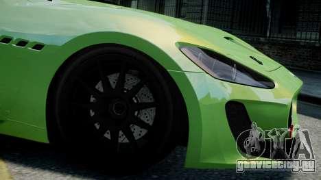 Maserati GranTurismo MC 2009 для GTA 4 вид сзади