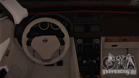 Volvo XC60 2009 для GTA San Andreas вид сзади