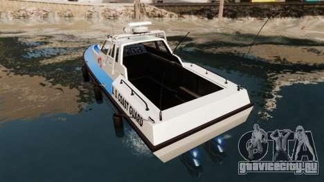 Predator U.S. Coast Guard для GTA 4 вид сзади слева