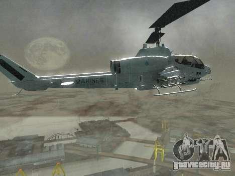 AH-1W Супер Кобра для GTA San Andreas вид сбоку
