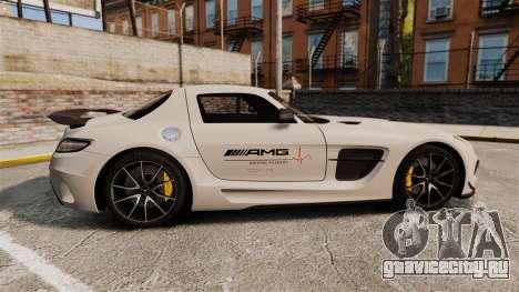 Mercedes-Benz SLS 2014 AMG Driving Academy v1.0 для GTA 4 вид слева