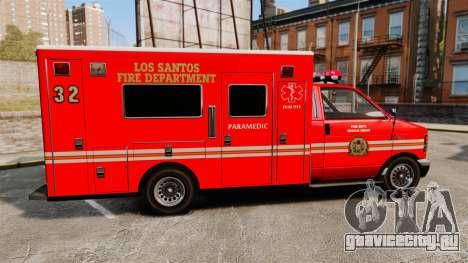 Brute LSFD Paramedic для GTA 4 вид слева