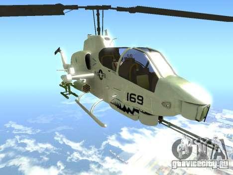 AH-1W Супер Кобра для GTA San Andreas вид справа