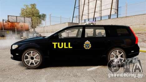 Volvo V70 Swedish TULL [ELS] для GTA 4 вид слева