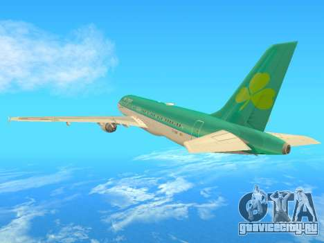 Airbus A320-200 Aer Lingus для GTA San Andreas вид сзади