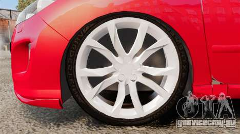 Peugeot 308 CC для GTA 4 вид сзади