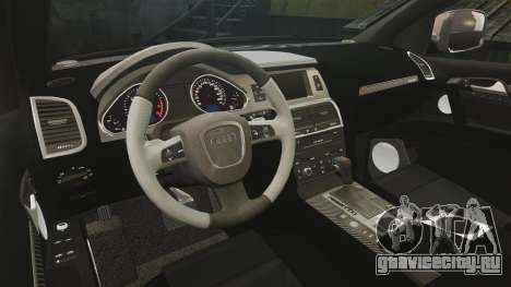 Audi Q7 Hungarian Police [ELS] для GTA 4 вид изнутри