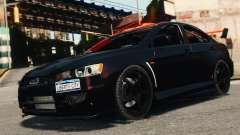 Mitsubishi Lancer Evolution X 2008 Black Edition для GTA 4