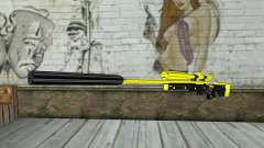 Yellow Sniper Rifle для GTA San Andreas
