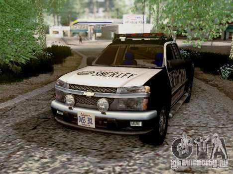 Chevrolet Colorado Sheriff для GTA San Andreas вид сбоку