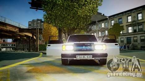 ВАЗ 2107 для GTA 4 вид сбоку