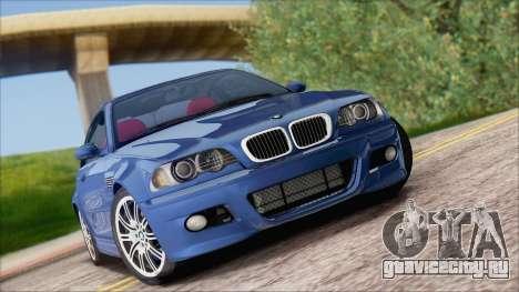 BMW M3 E46 2002 для GTA San Andreas вид сзади