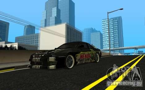 Nissan Silvia S14 Monster Energy KENDA Tire для GTA San Andreas вид изнутри