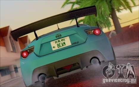 Scion FR-S 2013 Beam для GTA San Andreas вид справа