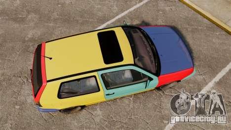 Volkswagen Golf MK3 Harlequin для GTA 4 вид справа
