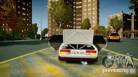 ВАЗ 2107 для GTA 4 вид снизу