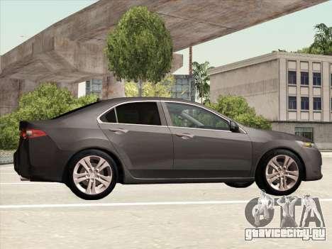 Honda Accord 2009 для GTA San Andreas вид изнутри