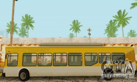 Transit Bus из GTA 5 для GTA San Andreas вид изнутри