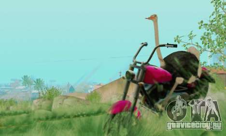 Ostrich From Goat Simulator для GTA San Andreas шестой скриншот