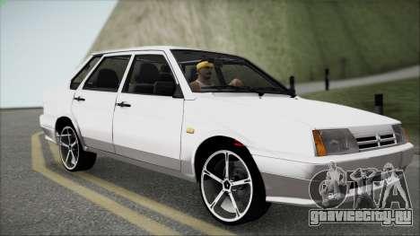 ВАЗ 21099М для GTA San Andreas вид изнутри