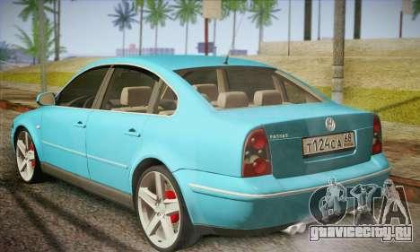 Volkswagen Passat для GTA San Andreas вид сзади слева