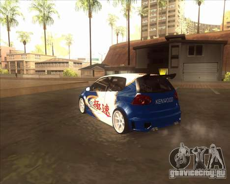 Volkswagen Golf из NFS Most Wanted для GTA San Andreas вид сзади слева