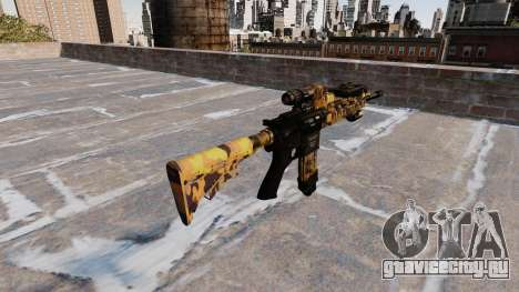 Автоматический карабин Colt M4A1 Fall Camos для GTA 4 второй скриншот