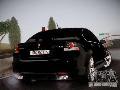 Pontiac G8 GXP 2009 для GTA San Andreas вид изнутри