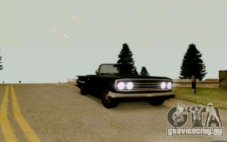 Voodoo Кабриолет (версия с фарами) для GTA San Andreas вид справа