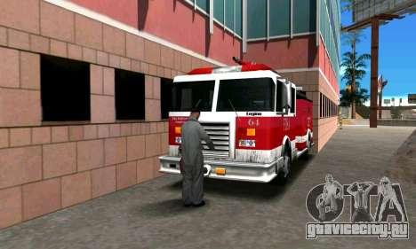 Реалистичная пожарная станция в Лос Сантосе для GTA San Andreas третий скриншот