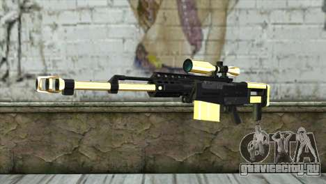 Golden Sniper Rifle для GTA San Andreas