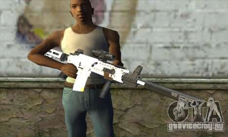 Golden M4A1 для GTA San Andreas третий скриншот