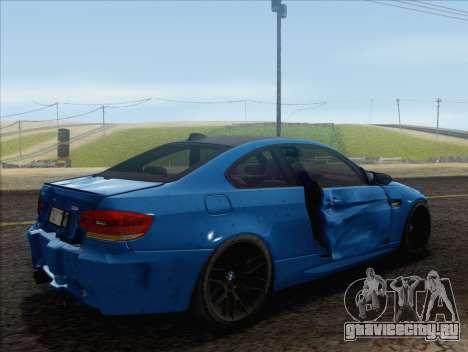 BMW M3 E92 2008 для GTA San Andreas салон