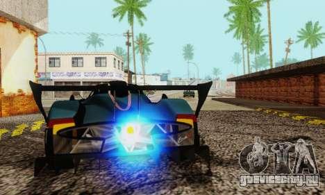 Pagani Zonda Type R Black для GTA San Andreas вид сзади