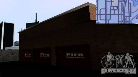 Updated San Fierro Fire Dept для GTA San Andreas четвёртый скриншот
