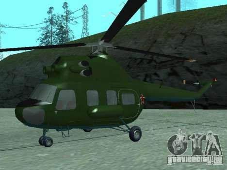 Ми 2 военный для GTA San Andreas вид слева