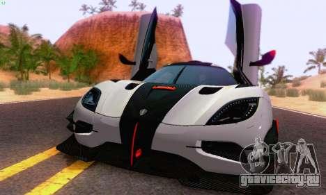 Koenigsegg One 2014 для GTA San Andreas вид слева